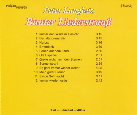 CD Bunter Liederstrauß
